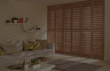 Grovewood shutters in taupe finish